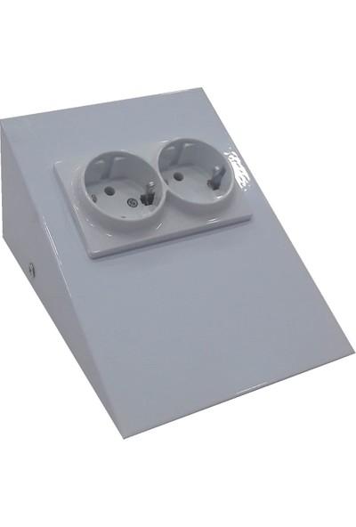 Espar Dolap Tezgah Altı Beyaz Metal Priz Çok Şık!!!