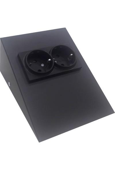 Espar Dolap Tezgah Altı Siyah Metal Priz Çok Şık!!!