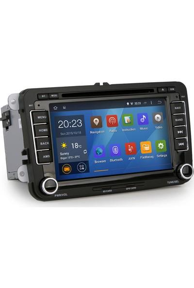 Passat cc jetta Golf 6*5 Polo Android 8*4 Gb Ram Navigasyon Multimedya Tv Usb Oem