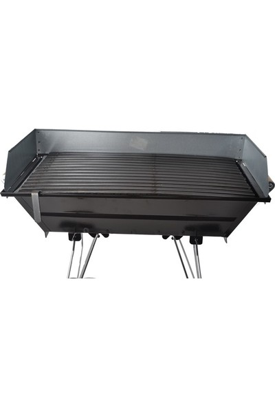 Yapıcıoğlu 1038 Tekerlekli 35*70 Cm Köfteci Mangal