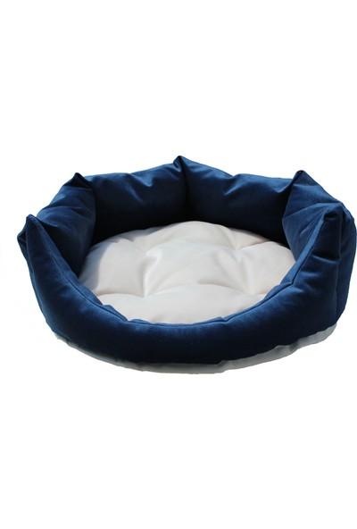 Tulyano Kedi & Köpek Yatağı 40x40x18 cm Lacivert