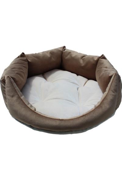 Tulyano Kedi & Köpek Yatağı 40x40x18 cm Kahve