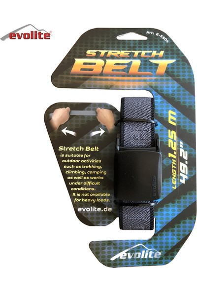 Evolite Stretch Outdoor Kemer - Gri