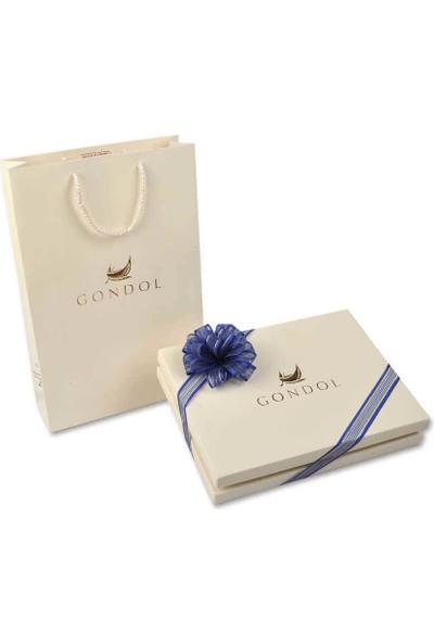 Gondol Çikolata Çiçekli Nişan / Nikah Çikolatası (100 Adet Madlen & Sunum Kutusu)