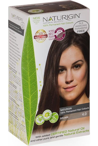 Naturigin Organik İçerikli Saç Boyası 4.0 Kahverengi