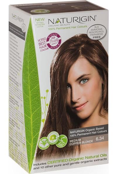 Naturigin Organik İçerikli Saç Boyası 6.34 Orta Bakır Kumral
