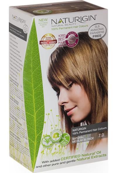 Naturigin Organik İçerikli Saç Boyası 7.0 Doğal Orta Sarı
