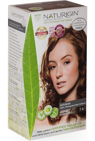 Naturigin Organik İçerikli Saç Boyası 7.4 Orta Sarı Kızıl