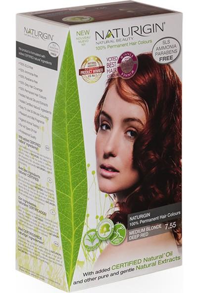 Naturigin Organik İçerikli Saç Boyası 7.55 Orta Alev Kızılı