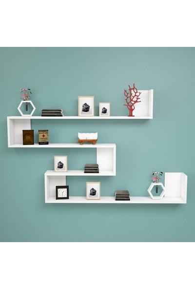 Yurudesign Shelf R11 Modern Duvar Rafı Kitaplık