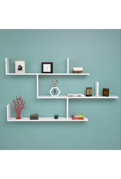 Yurudesign Shelf R5 Modern Duvar Rafı Kitaplık