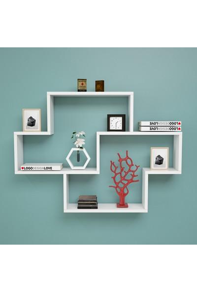Yurudesign Shelf R8 Modern Duvar Rafı Kitaplık