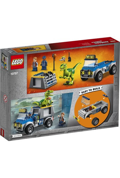 LEGO Juniors Jurassic World 10757 Raptor Kurtarma Kamyonu
