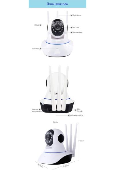 Bebbee Gece Görüşlü HD 360° Wifi IP Güvenlik Ve Bebek Kamerası