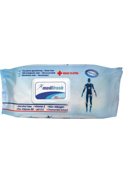 Medifresh Hasta Vücut Temizleme Bezi 12'li Fırsat Paket (7200 Yaprak)