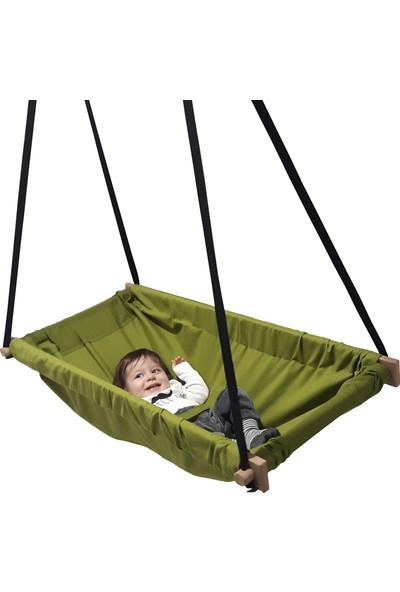 Svava Ahşap Yaylı Zıp Zıp Bebek Hamak Beşik (Yeşil)