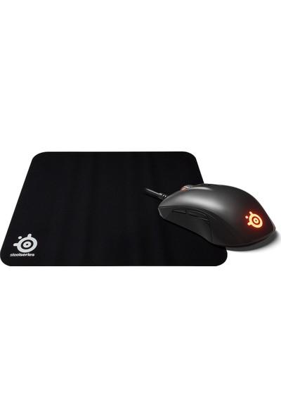 Steelseries Rival 110 Mouse + Qck Mousepad + Bardak Altlığı