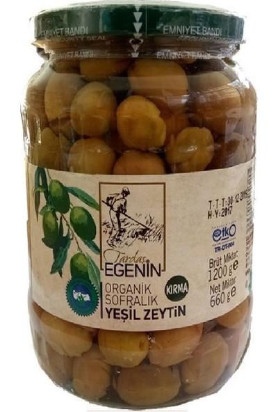 Tardaş Egenin Organik Kırma Yeşil Zeytin 660 Gr.
