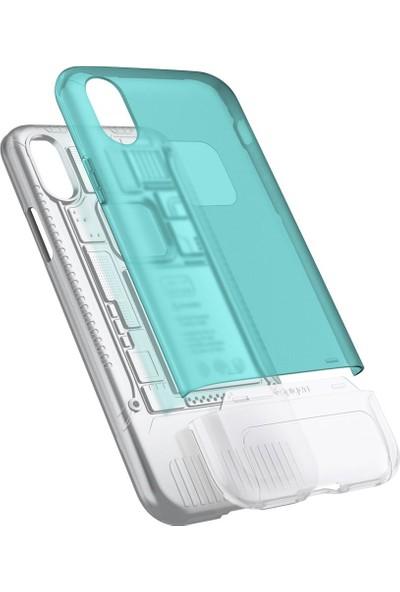 Spigen Apple iPhone XS / iPhone X Kılıf Classic C1 (10.Yıl Özel) Bondi Blue - 057CS23194