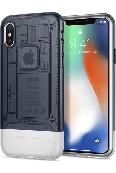 Spigen Apple iPhone X Kılıf Classic C1 (10.Yıl Özel) Graphite - 057CS23197