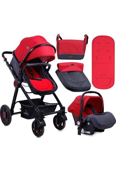 Lorelli Alexa Travel Sistem Bebek Arabası Black & Red