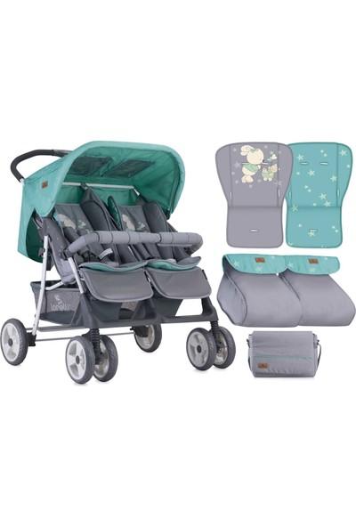 Lorelli Twin İkiz Bebek Arabası Grey Green Bunnies
