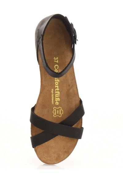 Comfortfüsse Milano Siyah Kadın Sandalet