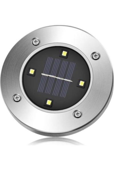 Buffer Güneş Enerjili Su Geçirmez 4 ledli Saplamalı Bahçe Lambası
