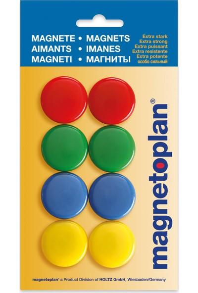 Magnetoplan Renkli Mıknatıs 30 mm - 8 Adet