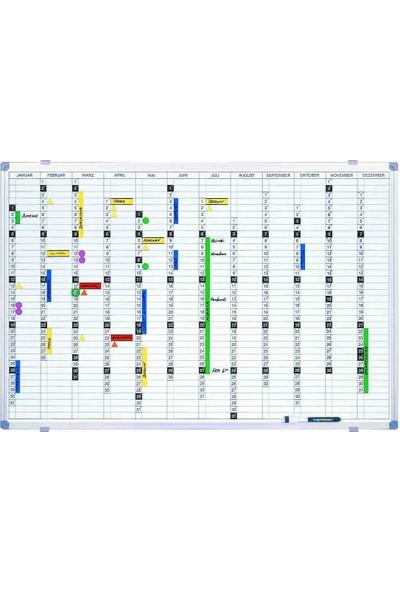 Magnetoplan Yıllık Takvim Panosu 90 x 120