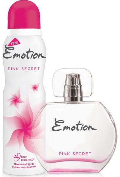 Emotion Pink Secret EDT Kadın Parfüm 50 ml & Deodorant 150 ml