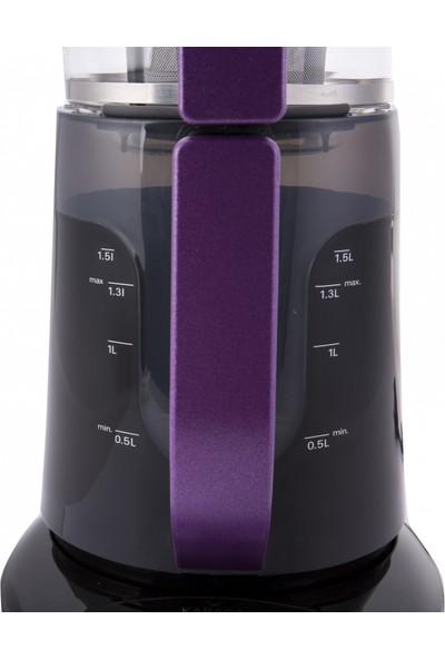 Karaca Demfit 2501 Sesli Çay Makinesi Violet Glossy