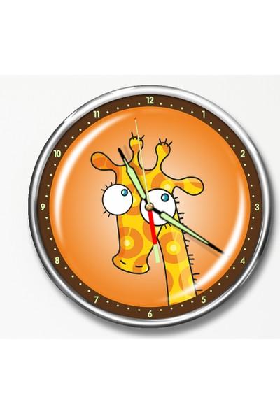 Dekor Loft Premium Gece Parlayan Çocuk Odası Duvar Saati FS-1501