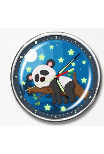 Dekor Loft Premium Gece Parlayan Çocuk Odası Duvar Saati FS-1548