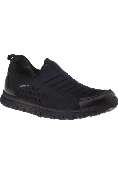 Forelli 45811 Memory Foam Bağsız Lacivert Erkek Ayakkabı