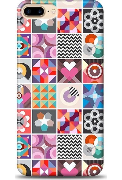 Eiroo iPhone 7 Plus Kareler Desen Baskılı Tasarım Kılıf