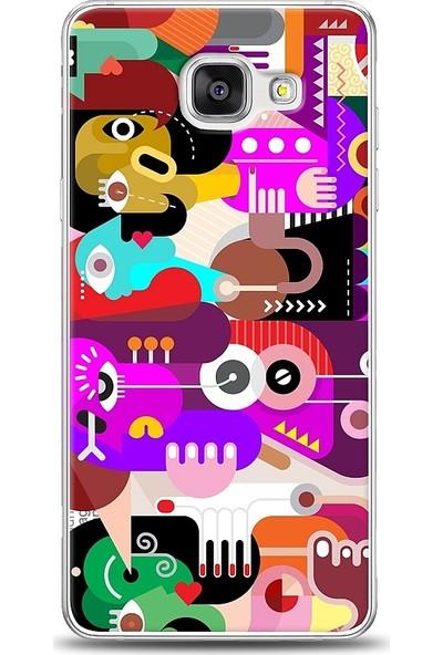 Eiroo Samsung Galaxy A7 2016 Modern Art Desen Baskılı Tasarım Kılıf