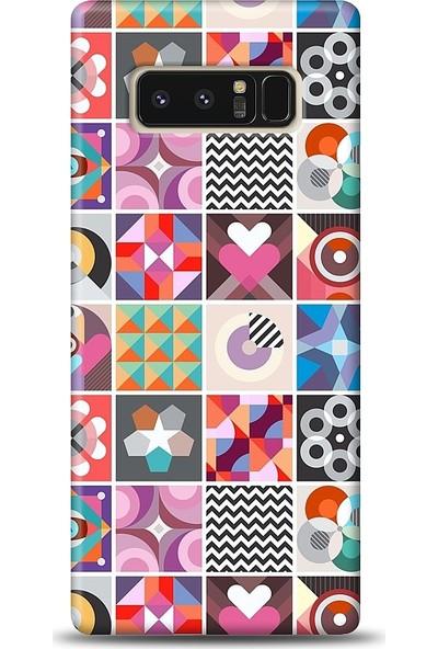 Eiroo Samsung Galaxy Note 8 Kareler Desen Baskılı Tasarım Kılıf