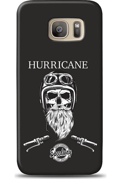 Eiroo Samsung Galaxy S7 Edge Hurricane Desen Baskılı Tasarım Kılıf