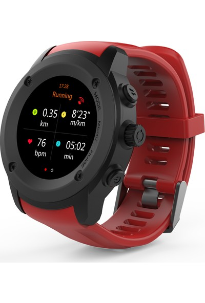 Case 4U Bluetooth Nabız Gps Spor Aktivite Saati DW-028 - Turuncu