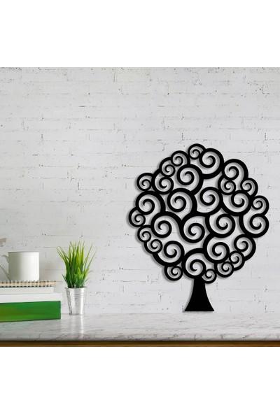 Dekoragel Bigudili Ağaç Metal Duvar Dekoru
