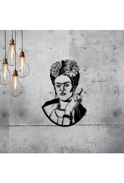 Dekoragel Frida Kahlo Design Metal Tablo