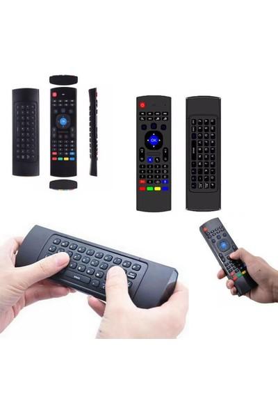 Schulzz MX3 2.4G Kablosuz Uzaktan Kumanda Air Mouse Klavye