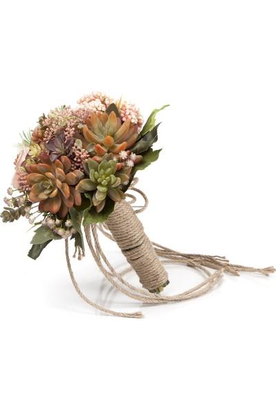 Elit Pastel Sukulentler El Çiçeği