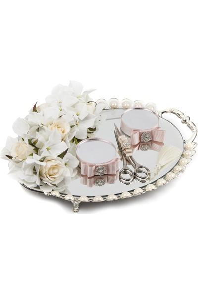 Elit Gümüş Aynalı Oval Yüzük Tepsisi 1
