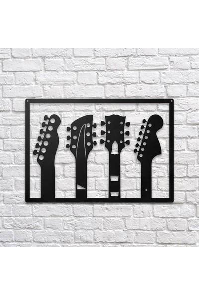 Angemiel Home Gitar Müzik Metal Duvar Tablosu Ev Ve Ofis Dekorasyonu Tablo