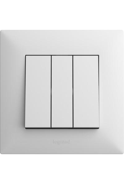 Legrand Raventi ( Beyaz ) Üçlü Anahtar