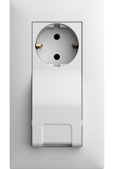 Legrand Raventi ( Beyaz ) Topraklı Priz + USB Priz