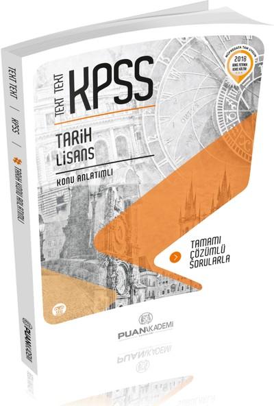 Puan Akademi 2018 KPSS Tarih Text Text Konu Anlatımlı