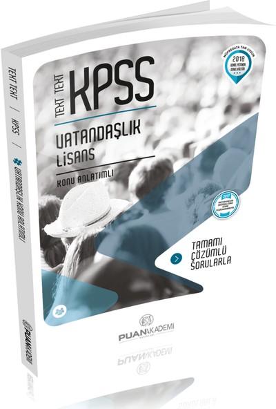 Puan Akademi 2018 KPSS Vatandaşlık Text Text Konu Anlatımlı
